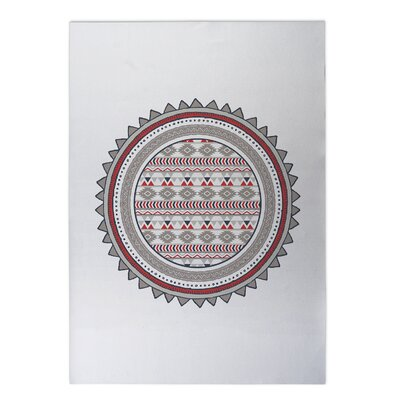 Tribal Tango Indoor/Outdoor Doormat Color: Red, Rug Size: Square 8 x 8