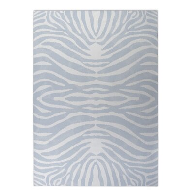 Nerbone Doormat Mat Size: Square 8 x 8, Color: Blue/ Ivory