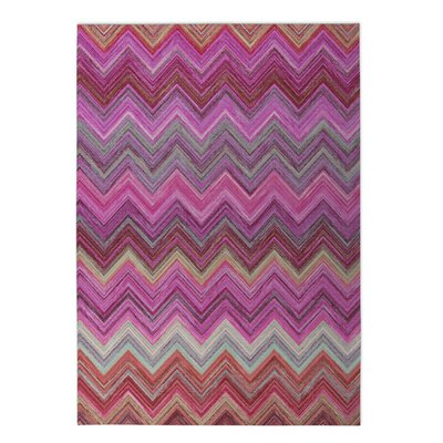 Chevron Indoor/Outdoor Doormat Rug Size: 4 x 5