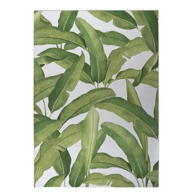 Pallavi Banana Leaves Indoor/Outdoor Doormat Rug Size: 5 x 7