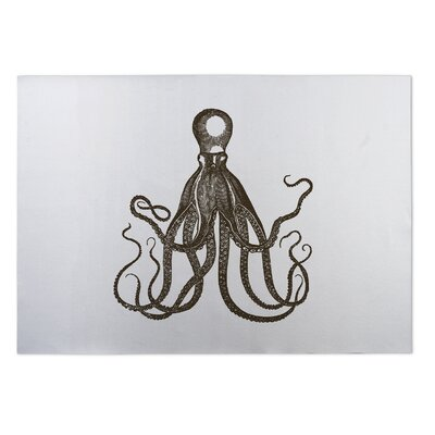 Octopus Indoor/Outdoor Doormat Rug Size: 4 x 5