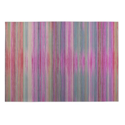 Abstract Sunset Indoor/Outdoor Doormat Rug Size: 4 x 5