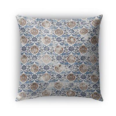 Estancia Burlap Indoor/Outdoor Throw Pillow Color: Blue, Size: 26 H x 26 W x 5 D