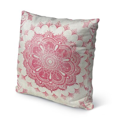 Boho Bloom Indoor/Outdoor Throw Pillow Size: 26 H x 26 W x 5 D, Color: Tan