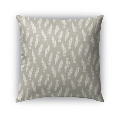 Feathers Burlap Indoor/Outdoor Throw Pillow Size: 16 H x 16 W x 5 D