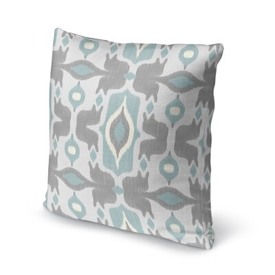 Cosmos Accent Pillow Size: 18 H x 18 W x 5 D, Color: Ivory/ Turquoise/ Grey