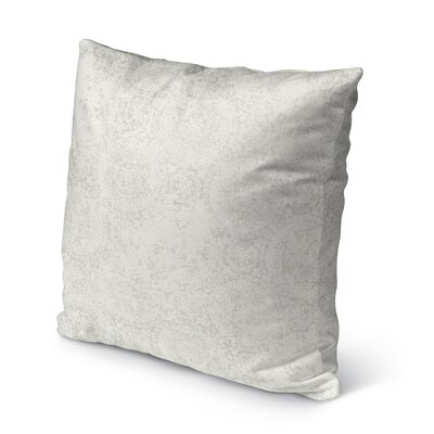 Ferrara Burlap Indoor/Outdoor Throw Pillow Size: 18 H x 18 W x 5 D, Color: Grey