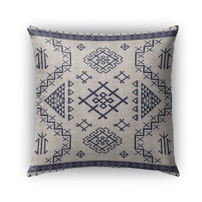 Cyrill Burlap Indoor/Outdoor Throw Pillow Size: 16 H x 16 W x 5 D, Color: Light Blue