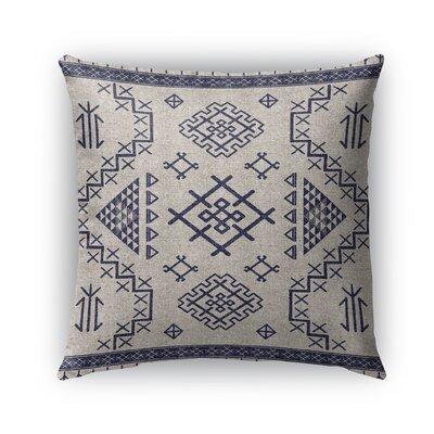 Cyrill Burlap Indoor/Outdoor Throw Pillow Color: Light Blue, Size: 18 H x 18 W x 5 D