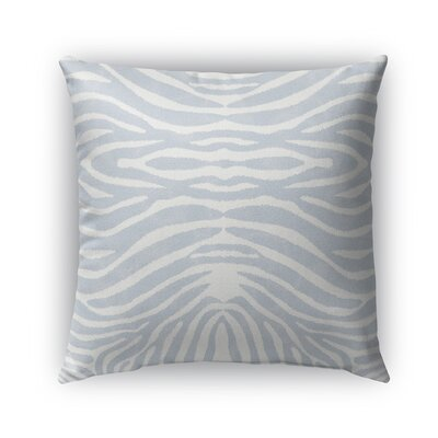 Nerbone Burlap Indoor/Outdoor Throw Pillow Size: 16 H x 16 W x 5 D, Color: Blue