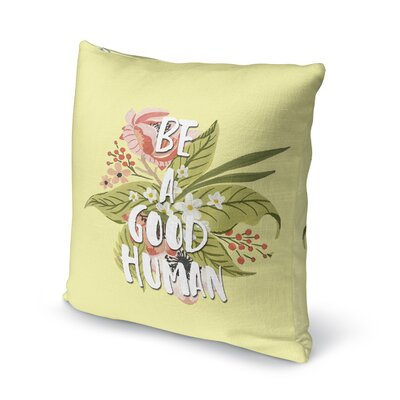 Good Human Burlap Indoor/Outdoor Pillow Size: 26 H x 26 W x 5 D