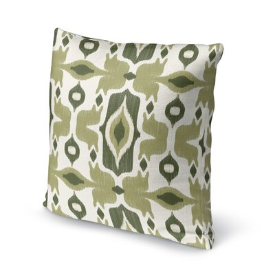 Cosmos Accent Pillow Size: 16 H x 16 W x 5 D, Color: Green/ Ivory