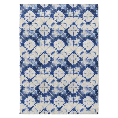 Salybia Blue/White Area Rug Rug Size: Rectangle 5 x 7