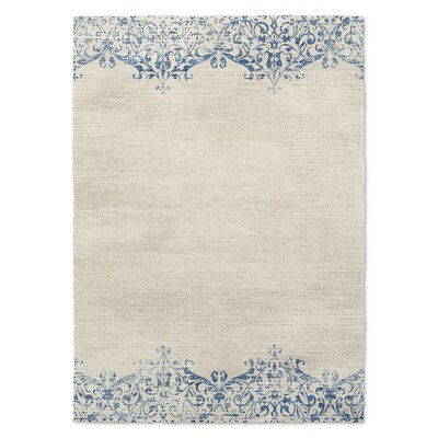 Blue/Beige Area Rug Rug Size: Rectangle 3 x 5