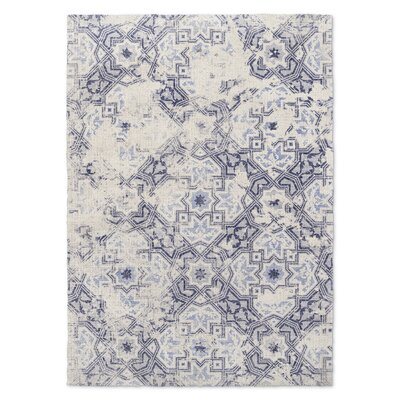 Esther Blue/Beige Area Rug Rug Size: Rectangle 5 x 7