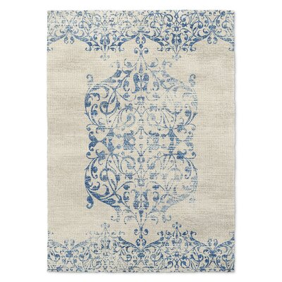 Blue/Beige Area Rug Rug Size: Rectangle 5 x 7