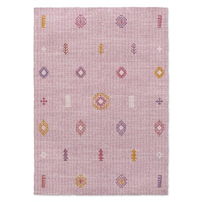 Barroui Pink Area Rug Rug Size: Rectangle 3 x 5