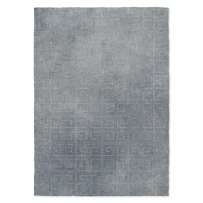 Distressed Key Blue Area Rug Rug Size: 2 x 3