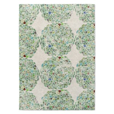 Green Area Rug Rug Size: Rectangle 8 x 10