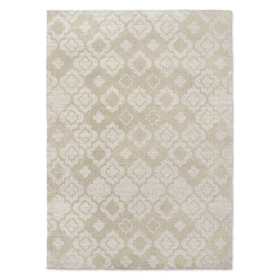 Tunis Beige Area Rug Rug Size: Rectangle 5 x 7