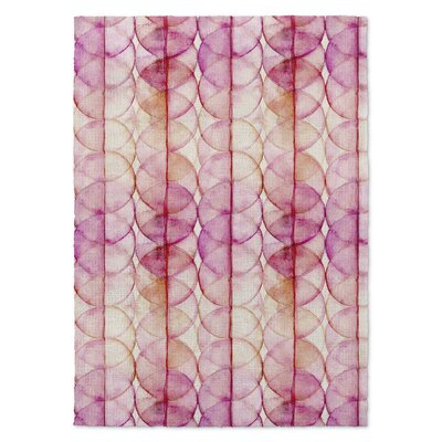 Pink/Yellow Area Rug Rug Size: Rectangle 8 x 10