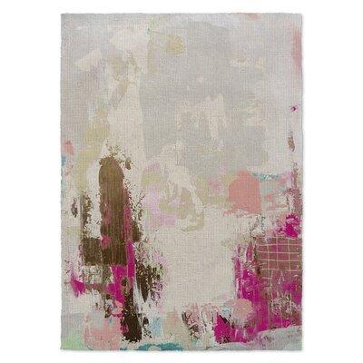 Sherilyn Beige/Pink Area Rug Rug Size: 3 x 5