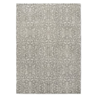 Gray/Cream Area Rug Rug Size: 5 x 7