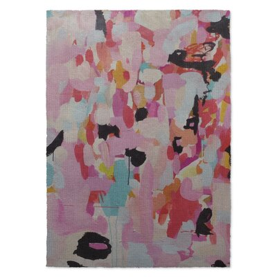 Charm Dripper Pink/Blue Area Rug Rug Size: 5 x 7