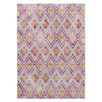 Layou Pink/Yellow Area Rug Rug Size: 8 x 10