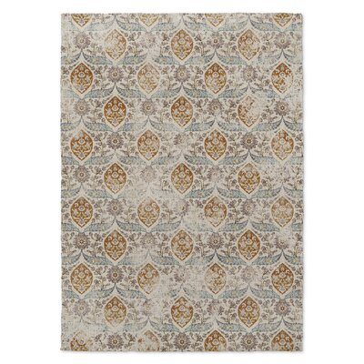 Estancia Gray/Brown Area Rug Rug Size: 2 x 3