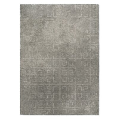 Distressed Key Gray Area Rug Rug Size: 8 x 10