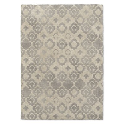 Tingis Beige/Gray Area Rug Rug Size: Rectangle 5 x 7