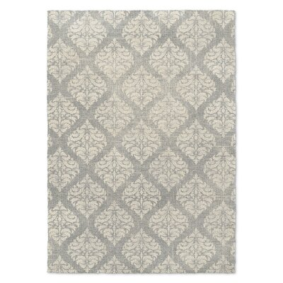 Gray/Cream Area Rug Rug Size: 3 x 5