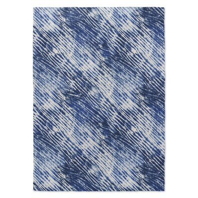 Janis Shower Blue/White Area Rug Rug Size: 3 x 5