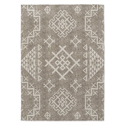 Cyrill Beige/Brown Area Rug Rug Size: 5 x 7