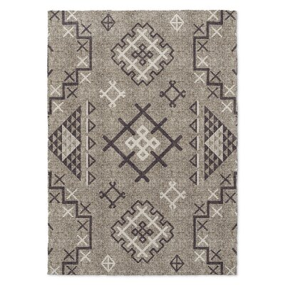 Cyrill Brown/Beige Area Rug Rug Size: 5 x 7