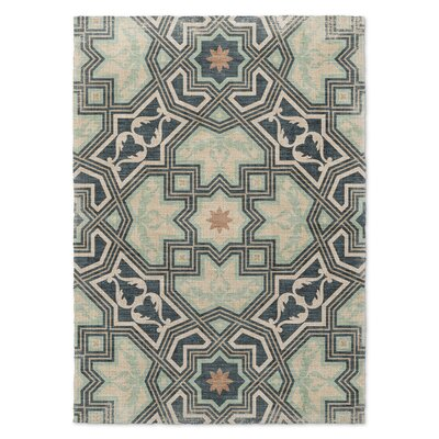 Aimee Blue/Beige Area Rug Rug Size: Rectangle 2 x 3