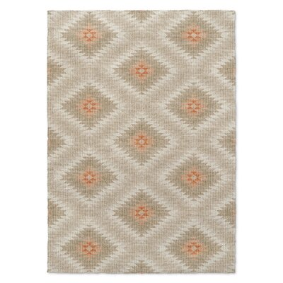 Portsmouth Beige/Orange Area Rug Rug Size: 5 x 7