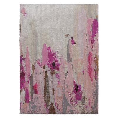 Abby Pink/Beige Area Rug Rug Size: 3 x 5