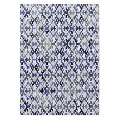 Laudat Blue/White Area Rug Rug Size: 2 x 3