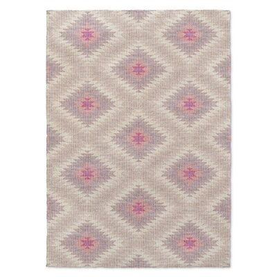 Rosalie Beige/Pink Area Rug Rug Size: Rectangle 2 x 3