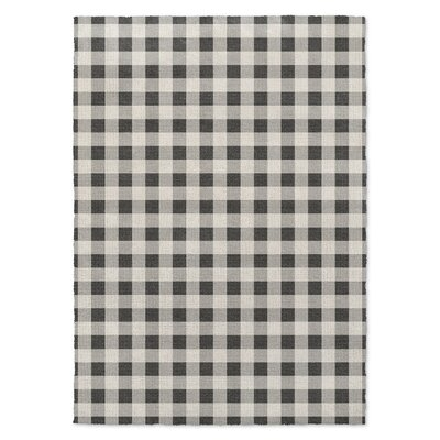 Black Area Rug Rug Size: Rectangle 3 x 5