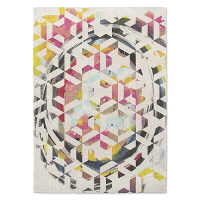 Gray/Pink Area Rug Rug Size: Rectangle 3 x 5