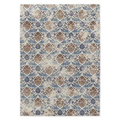 Estancia Blue/Brown Area Rug Rug Size: Rectangle 2' x 3'