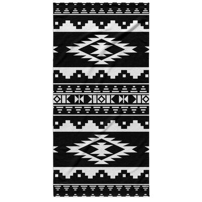 Fleur Beach Towel Color: Black