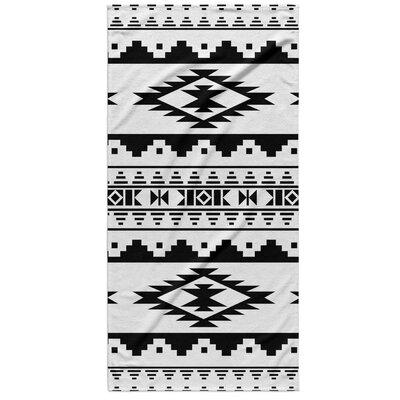Fleur Beach Towel Color: Black/White