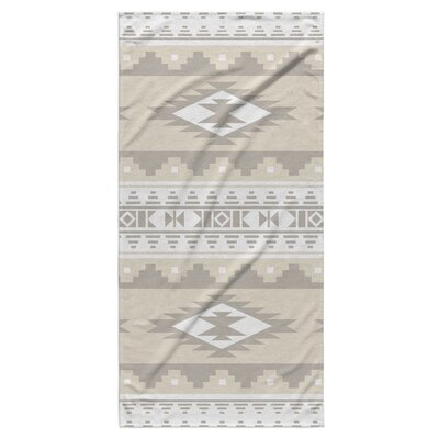 Fleur Beach Towel Color: Tan