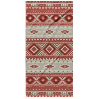 Cabarley Beach Towel Color: Red