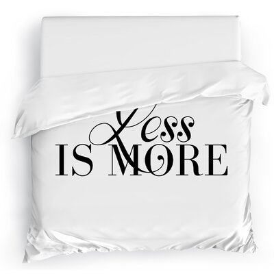 Less is More Duvet Cover Size: Full/Queen