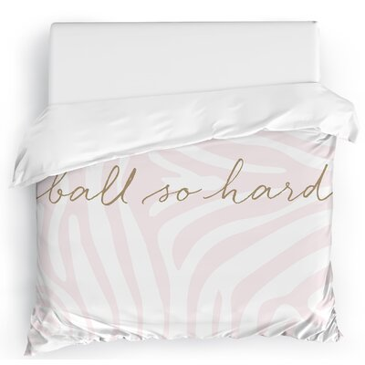 Ball So Hard Duvet Cover Size: Twin